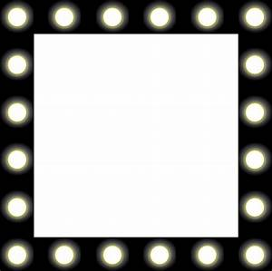 Clipart - Showbiz Make-up Mirror Style Frame