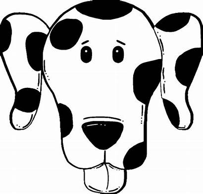 Dog Face Coloring Puppy Pages Template Templates