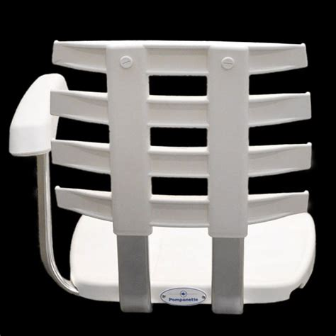 Pompanette Boat Chairs by Pompanette P10 White Boat Fighting Ladder Back Helm Seat