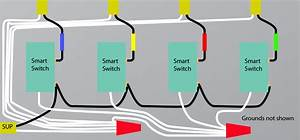 Electrical - How Can I Wire 3 Lutron Caseta Dimmer Switches In Bathroom