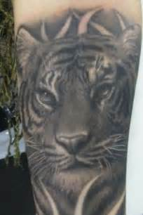 Black and White Tiger Tattoos