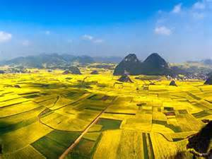 Peaks of China Yunnan Luoping County Geology
