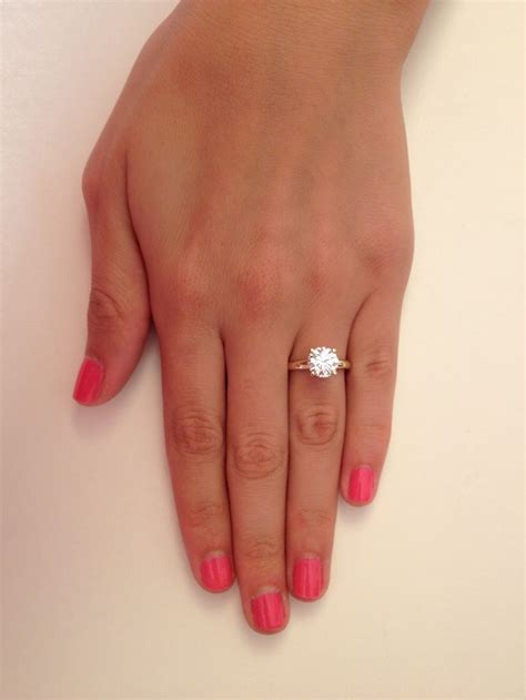 2 ct cut f vs1 solitaire engagement ring 14k