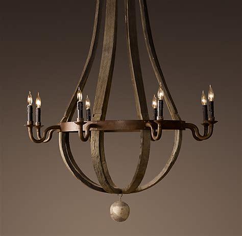 wine barrel chandelier 43 quot