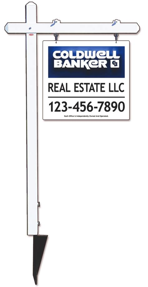 Coldwell Banker Real Estate Aluminum Sign Post And 3d Sign