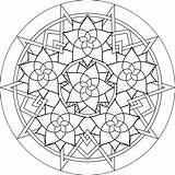 Coloring Pages Pattern Geometric Complex sketch template