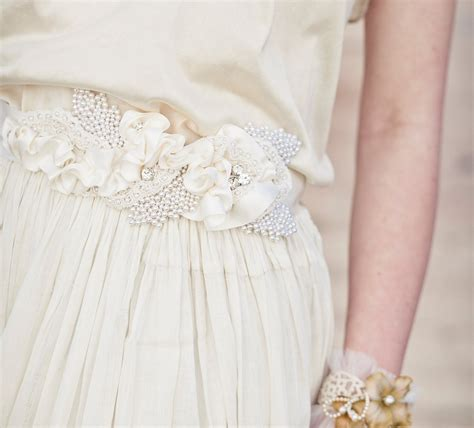 Wedding Gown Sash Belt With Satin Ribbon And By Besomethingnew