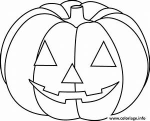 Comment Faire Une Citrouille Pour Halloween : coloriage citrouille halloween facile simple enfant ~ Voncanada.com Idées de Décoration