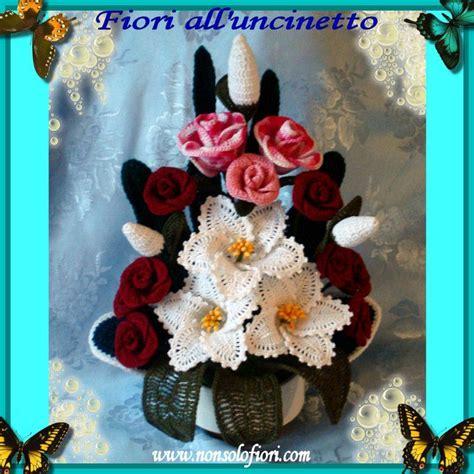 composizioni fiori uncinetto composizione di fiori all uncinetto con gigli e www