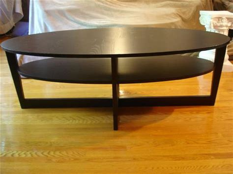 long coffee table ikea ikea vejmon oval black coffee table 55 quot x 26 quot x 18 5 quot hard