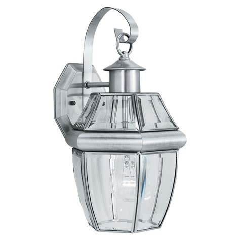 thomas lighting heritage  light brushed nickel outdoor