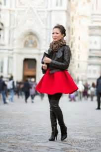 Red Dress and Boots Outfits Winter