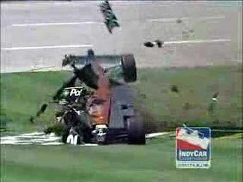 wheldon crash  texas youtube