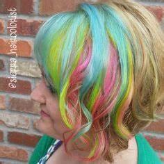 My little pony hair color Rainbow hair Aline bob