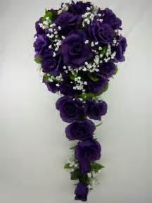 Purple Wedding Flowers Bridal Bouquet