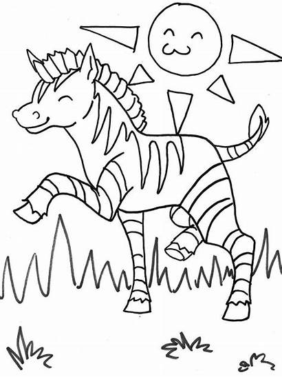 Zebra Coloring Template Printable Templates Animal Children