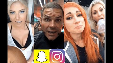 wwe snapchatig moments ft matt jeff hardy alexa bliss