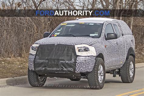 ford bronco mule spied testing masking suspension design