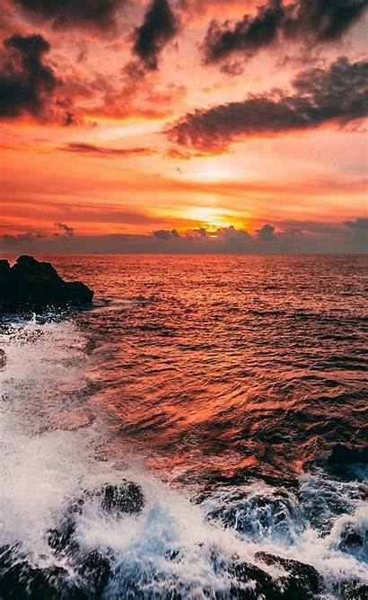 Aesthetic Landscape Sunset Backgrounds Background Iphone Wallpapers