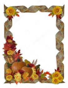 Free Fall Borders Clip Art Thanksgiving