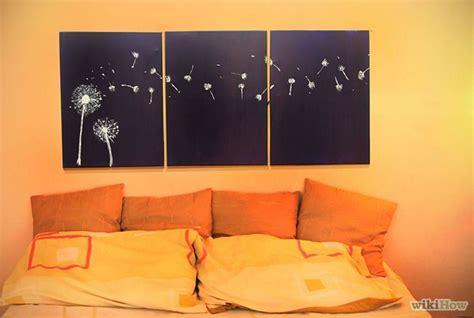 design three panel light up dandelion wall art crafts