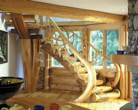 wood staircase timber  logs    amazing
