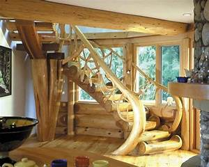 Wood Staircase - Timber and Logs That Will Look Amazing in