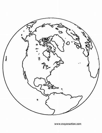 Earth Coloring Planet Printable Pages Globe Earthquake