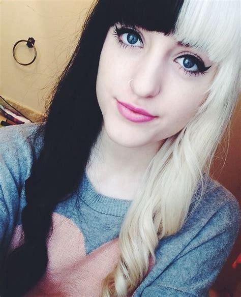 37 Best Half Black Half Blonde Hair Images On Pinterest