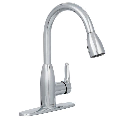 american standard single handle kitchen faucet american standard colony soft single handle pull down sprayer kitchen faucet in polished chrome