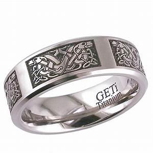 celtic 2226cd4 titanium wedding ring 2226cd4 With celtic titanium wedding rings
