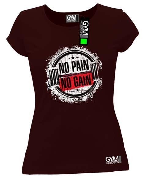 No Pain No Gain Cracked Round - koszulka damska