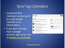 Sync'ing Calendars • Outlook