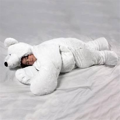 Sleeping Bear Bag Animal Stuffed Giant Polar