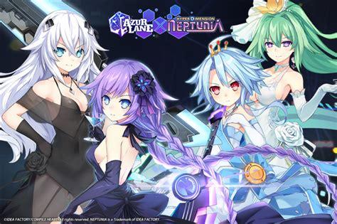 azur lane welcomes characters  hyperdimension neptunia
