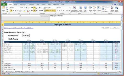 employee schedule excel spreadsheet excel