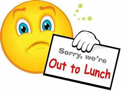 Lunch Sign Clipart Sorry Clip Face Cat