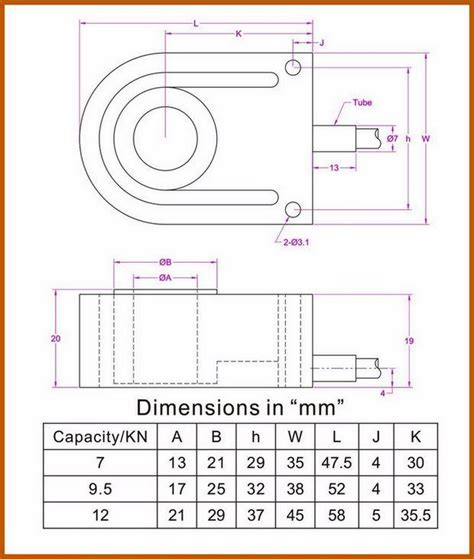 donut load cell washer type load cell sensor