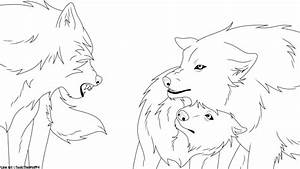 Anime Wolf Family Coloring Coloring Pages