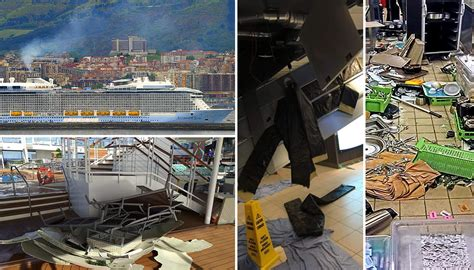 Royal Caribbean Cruise Ship 'anthem Of The Seas' Battered
