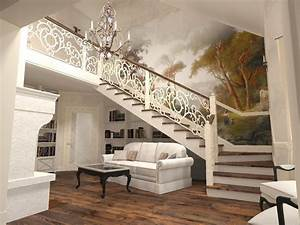 how to design a living room under stairs to make it look With living room design with stairs