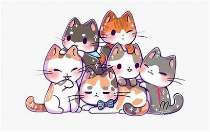 Cat Kawaii Kitten Kittens Cats Cartoon Clipart