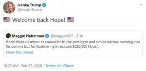 Hope Hicks Communications Trump