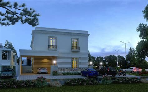 Europe 3d Front Elevation Of House