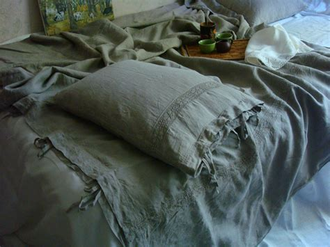 shabby chic grey bedding gray linen bedding duvet cover country bedding designer duvet