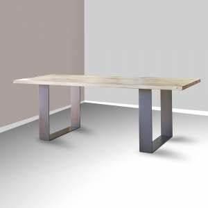 Table Bois Metal Extensible : mobilier industriel soldes 4 pieds ~ Teatrodelosmanantiales.com Idées de Décoration