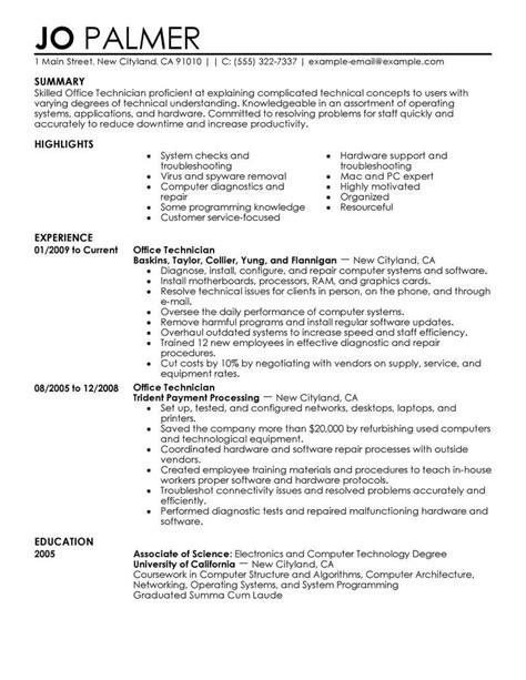 IT Technician Resume | | Mt Home Arts