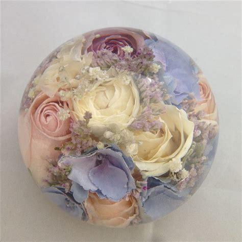 wedding flower keepsakes  lovely paperweights