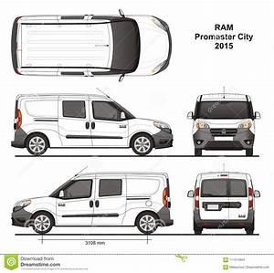 Ram Promaster City Combi Delivery Van 2015 Immagine Stock