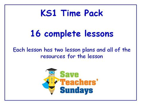 Ks1 Time Lessons Bundle  Pack (16 Lessons) By Saveteacherssundays  Teaching Resources Tes